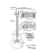 USA Patent Classic Gibson Guitar 4 Drawings Collection - $23.30
