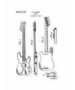 USA Patent Fender Precision Bass Guitar - 3 Dra... - $23.30