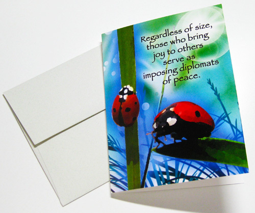 LADYBUG: Unique Blank Insect Philosophy Card