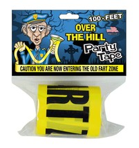 Over the Hill Party Tape - CAUTION YOU ARE NOW ENTERING THE OLD FART ZON... - $9.89