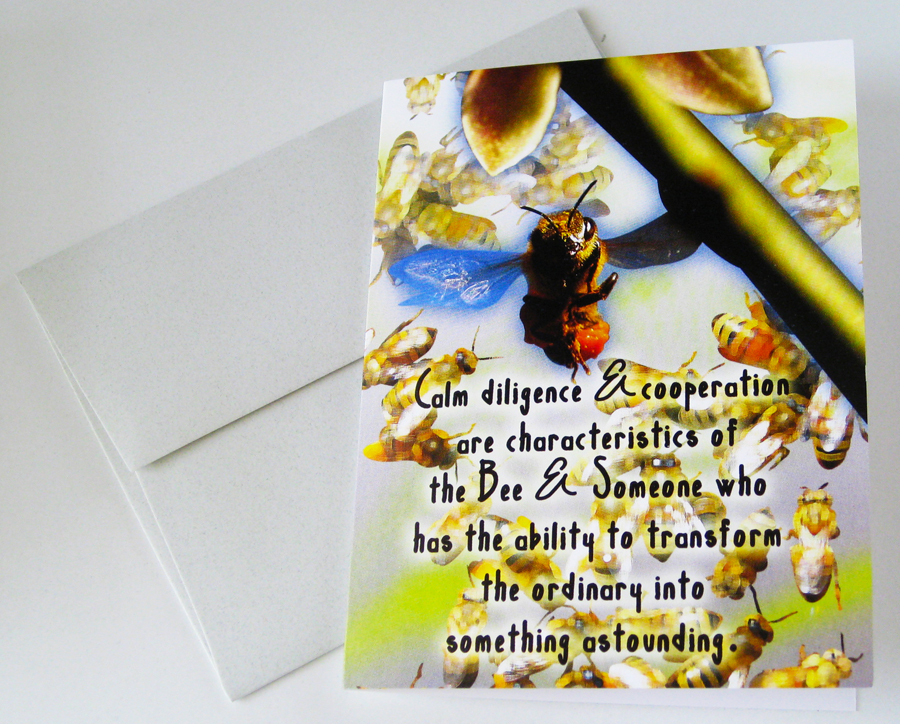 BEE: Unique Blank Insect Philosophy Card