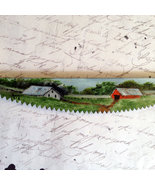 Summer Mini Crosscut Saw, Hand Painted, Oils, Collectible, Metal Art, Ho... - $12.50