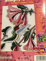 Janlynn Counted Cross Stitch Kit Hummingbird Floral Simply Sweet 2001  NIP - $12.71