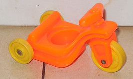 Vintage 80's Fisher Price Little People Orange Tricycle #656 FPLP - $5.90