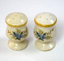 Matching Salt Glaze Stoneware MIKASA JAPAN Salt Pepper Shakers Pottery C... - $19.79