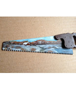 Hand Painted Winter Homestead Mini Handsaw Frid... - $18.75