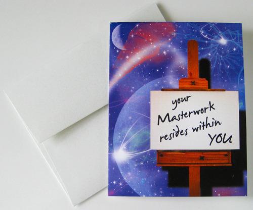 ART & PAINTING: Unique Blank Card, Spiritual, Philosophical