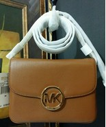 NWT MICHAEL KORS Fulton Flap Gusset Leather Cro... - $161.49