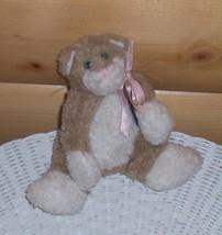 """Boyds Plush 6"""" Bears in Attic 1991-1995 Oatmeal Beige White Flatsy Flopsy Cat - $7.69"""