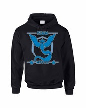 Adult Hoodie Sweatshirt Team Mystic Blue Team Cool Top - $24.94+