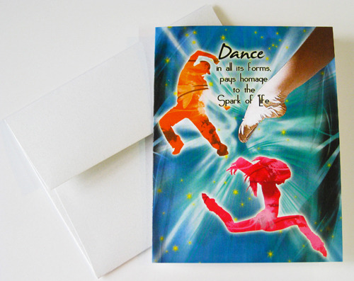 DANCE: Unique Blank Performing Arts Card
