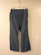GAP Women's Size 6 Maternity Pants w/ Belly Band Dusty Spruce Green Wide Leg Cut
