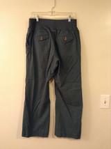 GAP Women's Size 6 Maternity Pants w/ Belly Band Dusty Spruce Green Wide Leg Cut image 2