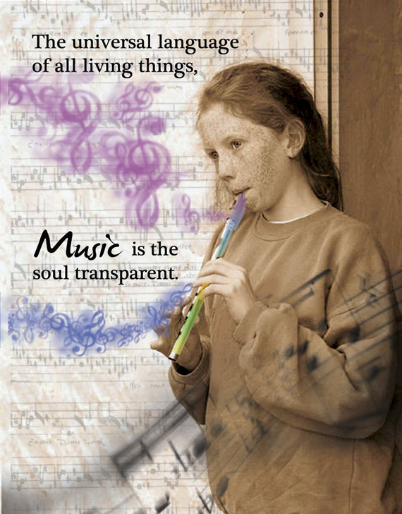 MUSIC: Unique Blank Art Card, Spiritual, Philosophical
