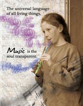 MUSIC: Unique Blank Art Card, Spiritual, Philosophical - $4.25