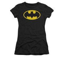 Simply Superheroes Womens batgirl logo womens baby tee Juniors Small - $21.99