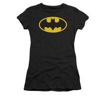 Simply Superheroes Womens batgirl logo womens baby tee Juniors Large - $21.99
