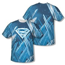 Simply Superheroes Mens superman fortress of solitude sublimation t shir... - $25.99