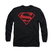 Simply Superheroes Mens superboy logo mens long sleeve t shirt Large - $24.99