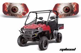 AMR Racing Headlight Eye Graphic Decals Light Cover Polaris Ranger 09-14... - $18.95