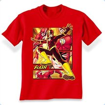 Simply Superheroes Mens the flash panels t shirt Size 18/20 (Youth XL) - $15.99