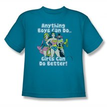 Simply Superheroes Womens dc comics girls can do better youth t shirt Size 14... - $15.99