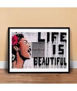 LIFE IS BEAUTIFUL GRAFFITI STREET SPRAY ART POSTER GIFT BANKSY MR BRAIN ... - $18.97