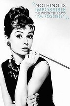 AUDREY HEPBURN   QUOTE POSTER   24x36 BREAKFAST AT TIFFANY'S - $19.89