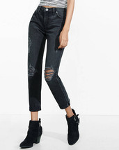 Express Black Faded And Distressed Rigid Girlfriend Jean, size 14, NWT - $59.99