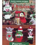 Country Christmas Ornament Collection Plastic Canvas Pattern Booklet 7 D... - $5.37
