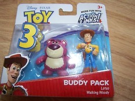 Disney Toy Story Action Links Woody & Lotso Bear PVC Toy Figures Cake To... - $14.00