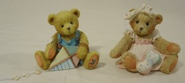 Cherished Teddies SR7 839 Baby 3P0 967 Figurine Qty 2 Ceramic - $8.48