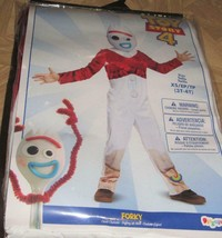 Disney Toy Story 4 Forky Jumpsuit Mask Halloween Costume XS 3t-4t Toddler Boys - $44.95