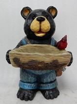 Hi- Line Gift 75619-E Bear Holds Bird Bath with Cardinal Statue - $60.72