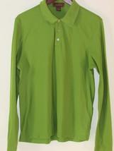 Men's Tasso Elba Long Sleeve Polo Shirt 100% Pima Cotton Green Size Small - $13.36