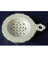 Tea Bag Strainer - White Porcelain - Scalloped ... - $6.00
