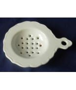 Tea Bag Strainer - White Porcelain - Scalloped ... - $6.00