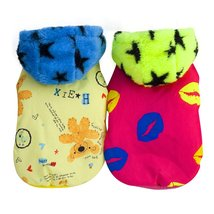 """Cute Cotton Star Hat Two-legs Pet Coat (yellow, Large(Neck 13"""" Chest19"""" ... - $19.79"""