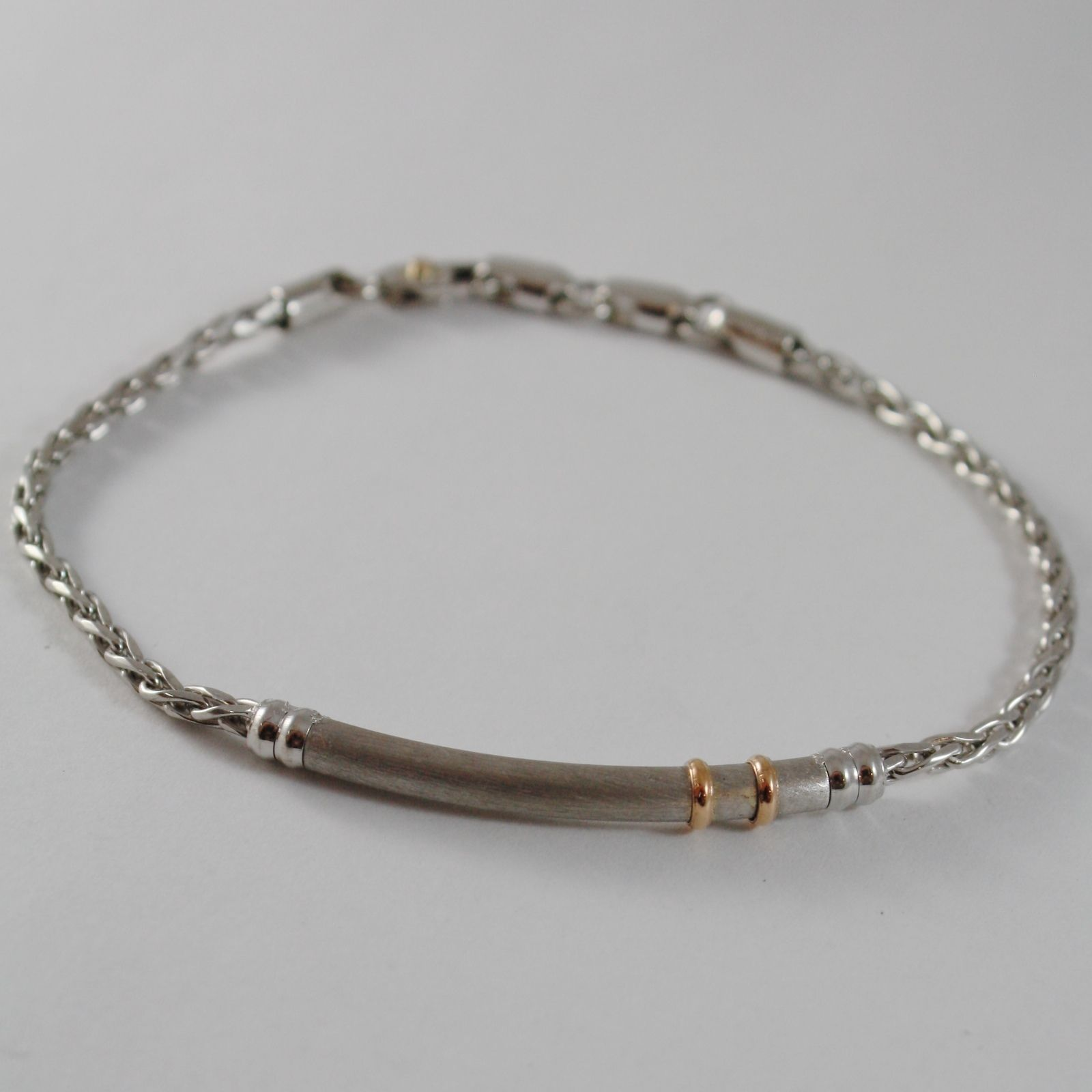 ZANCAN BRACELET, SATIN PLATE, 18k ROSE GOLD, 925 STERLING SILVER MADE IN ITALY