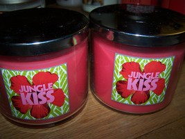 Lot of 2 Slatkin & Co Jungle Kiss 3 Wick Scented Candle with Lid 14.5 oz... - €35,22 EUR