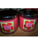 Lot of 2 Slatkin & Co Jungle Kiss 3 Wick Scented Candle with Lid 14.5 oz... - $39.99