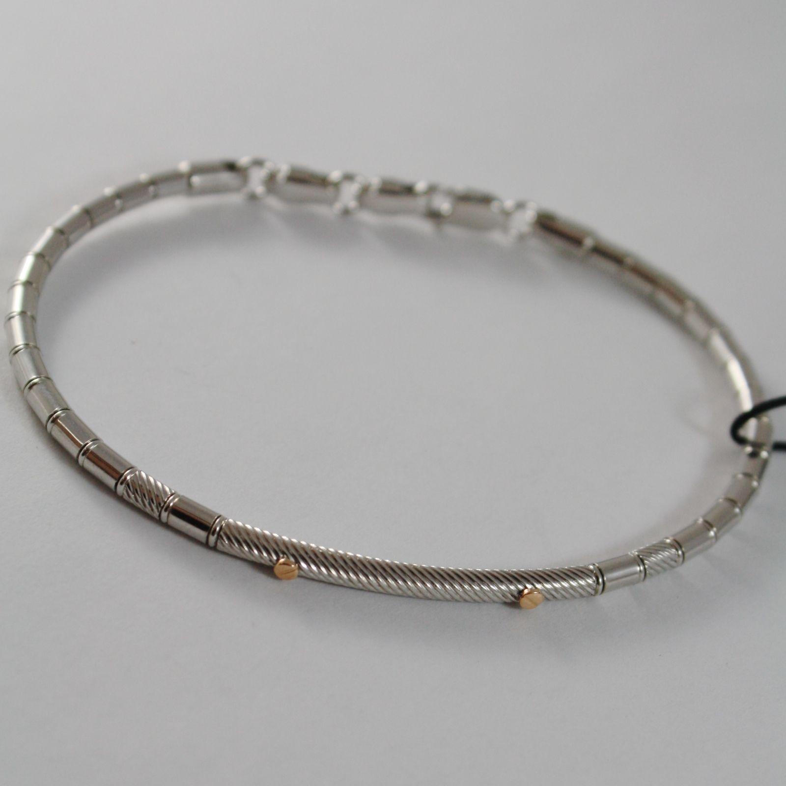 ZANCAN BRACELET, TUBE BANGLE, 18k ROSE GOLD, 925 STERLING SILVER MADE IN ITALY