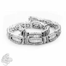 9.49CT Women's Vintage Round/Emerald Cut VS Diamond Bracelet 18K White Gold - $9,899.01