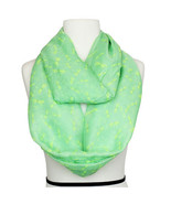 Green Spring Infinity fashion scarf with dragonfly print. 100% polyester - $19.75