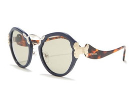$640 Prada Catwalk Sunglasses Blue 54-25-140 mm Smoke Lens 100% UV Prot ... - $249.00