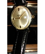 Luxury Men's Vintage 14K YG Jules Jurgensen Automatic Watch W/ Leather Band - $1,088.01