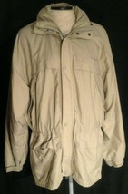 Timberland Weather Gear Men's Full Zip w/rain hood Beige Jacket Size S - $24.30