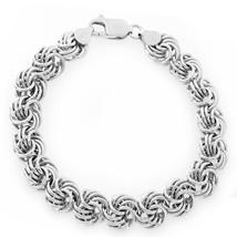 Men/Womens Unique Solid Italy 925 Silver Fancy Swirl Link Italian Bracelet - $100.96