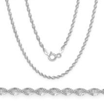 Men/Women's Unique 1.7mm 925 Silver Twist Rope Magic Flex Link Chain Nec... - $19.19+