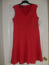 Nine West New Womens Pink V-Neck Sleeveless Flared Dress     12        $79 - $22.50